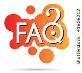 vector faq sign   Shutterstock .eps vector #41606212
