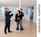 pictures inside an empty loft... | Shutterstock . vector #41606416