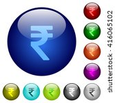 set of color indian rupee sign...
