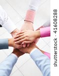 close up of business people s...   Shutterstock . vector #41608288