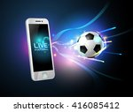 mobile football live phone sport | Shutterstock .eps vector #416085412