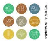 farming vector icons  | Shutterstock .eps vector #416088082