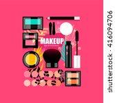 makeup glam set | Shutterstock .eps vector #416094706