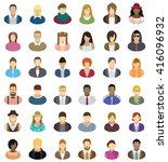people icon set | Shutterstock .eps vector #416096932