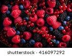 berries assorted fresh mix... | Shutterstock . vector #416097292