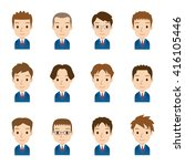 characters of cute comic style  | Shutterstock . vector #416105446