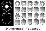 set of shields | Shutterstock .eps vector #41610592