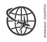 travel icon vector illustration ... | Shutterstock .eps vector #416107012