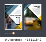 brochure template layout  cover ... | Shutterstock .eps vector #416111842