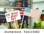 eat what you want day 11th may. ... | Shutterstock . vector #416115682