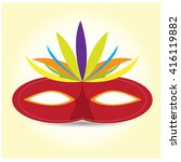 isolated carnival mask with... | Shutterstock .eps vector #416119882