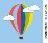 air balloon flying in the sky... | Shutterstock .eps vector #416124328