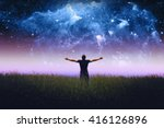 silhouette of man standing in a