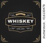 vintage frame design for labels ... | Shutterstock .eps vector #416130478