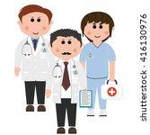 hospitals  doctors   Shutterstock .eps vector #416130976
