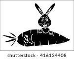 happy rabbit with a large...   Shutterstock .eps vector #416134408