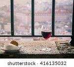 red wine on a ledge | Shutterstock . vector #416135032