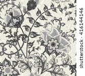 Hand Drawn Paisley. Flowers An...