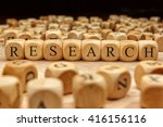 research word written on wood... | Shutterstock . vector #416156116