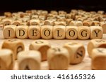 ideology word written on wood... | Shutterstock . vector #416165326