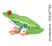 Little Tree Frog Vector...