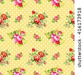 roses with light yellow polka...   Shutterstock . vector #416173918