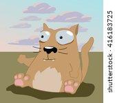 cartoon cat illustration | Shutterstock .eps vector #416183725