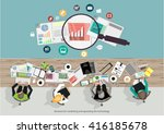 vector businessman... | Shutterstock .eps vector #416185678
