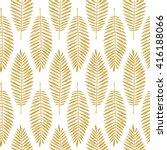 tropical leaves. seamless... | Shutterstock .eps vector #416188066
