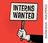 poster in hand  business... | Shutterstock .eps vector #416195422