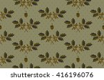 plant cool elegant pattern on... | Shutterstock .eps vector #416196076