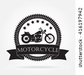 motorcycle label. vintage... | Shutterstock . vector #416197942