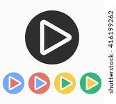 video  vector icon.... | Shutterstock .eps vector #416199262