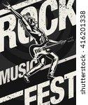 rock music fest  festival... | Shutterstock .eps vector #416201338