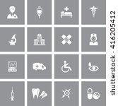 healthcare icon set | Shutterstock .eps vector #416205412