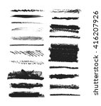 vector set of grunge brushes.... | Shutterstock .eps vector #416207926