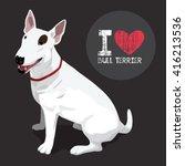 bull terrier  the buddy dog   Shutterstock .eps vector #416213536