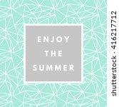 summer hipster boho chic... | Shutterstock .eps vector #416217712