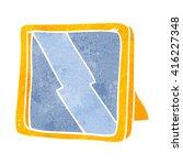freehand retro cartoon mirror | Shutterstock .eps vector #416227348