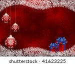 christmas background with a... | Shutterstock .eps vector #41623225