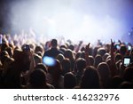 crowd at the concert of popular ... | Shutterstock . vector #416232976