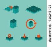 icon set data storage vector...   Shutterstock .eps vector #416245426