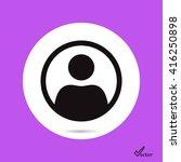 user vector icon | Shutterstock .eps vector #416250898