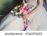 Wedding Bouquet With Pink...