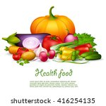 vegetable health food colorful... | Shutterstock .eps vector #416254135