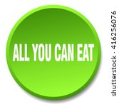 all you can eat green round... | Shutterstock .eps vector #416256076