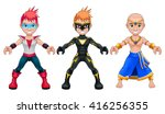 avatar young superheroes and... | Shutterstock .eps vector #416256355
