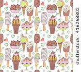 hand drawn seamless pattern... | Shutterstock .eps vector #416268802