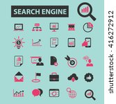 search engine icons  | Shutterstock .eps vector #416272912