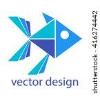 abstract logo design. flat logo ... | Shutterstock .eps vector #416274442